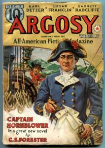 Argosy Pulp December 3 1938- Hornblower- A Merrit- CS Forester VG+
