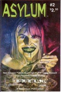 ASYLUM (1993 MILLENNIUM) 2 (2.50 CVR) VF GAIMAN,BUCKING COMICS BOOK