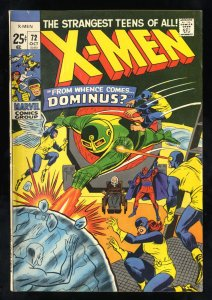 X-Men #72 VG+ 4.5 White Pages