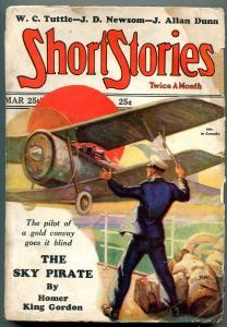 Short Stories Pulp March 25 1929- Sky Pirate- WC Tuttle- J Allan Dunn