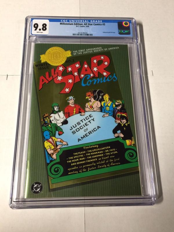 All Star Comics 3 Cgc 9.8 White Pages Millennium Edition