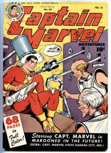 Captain Marvel Adventures #54 1946- Sci-Fi issue-Golden Age VF/NM