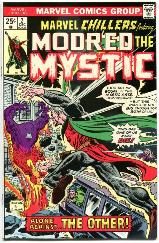 MARVEL CHILLERS #2, VF/NM, Modred the Mystic, 1975, Magic, Bronze age
