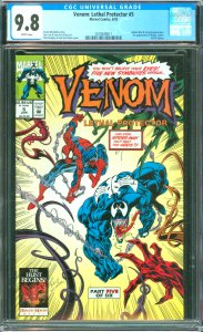 Venom: Lethal Protector #5 CGC Graded 9.8 Spider-Man appearance and Scream ap...