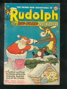 RUDOLPH THE RED-NOSED REINDEER 1952-DC-SANTA CLAUS COVR VG+