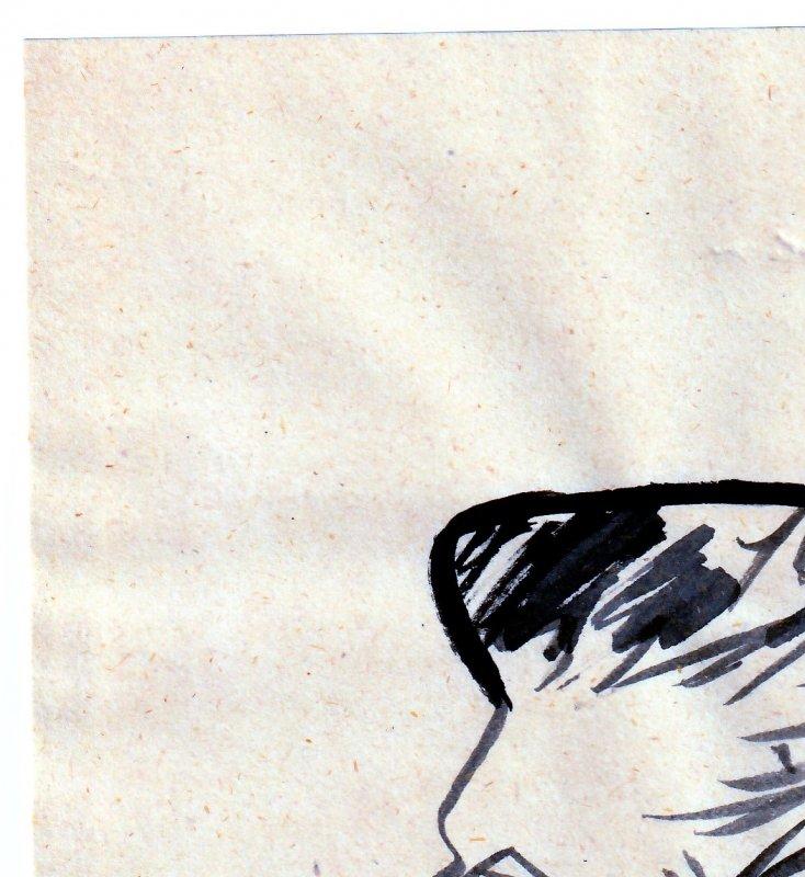 Autographed Bob Kane Original Artwork(No C.O,A.)