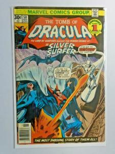 Tomb of Dracula #50 1st Series water stains 5.0 (1976) Silver Surfer