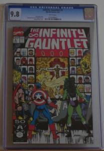 INFINITY GAUNTLET #2, CGC = 9.8, NM/M, Thanos, Avengers, 1991 , more in store