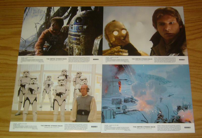Star Wars: the Empire Strikes Back full color movie stills set of (8) VF/NM