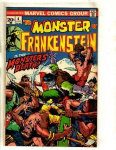 Monster Of Frankenstein # 4 GD Marvel Comic Book Mike Ploog Cover Horror RS1
