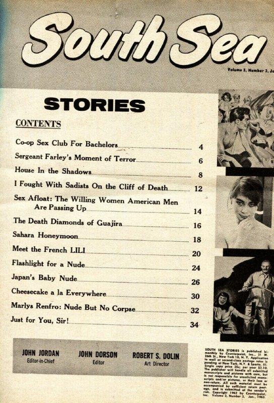 South Sea Stories 1/1963-jaguar menace-slave girl-cheesecake pix-vg-