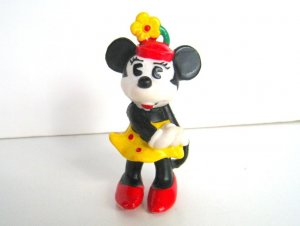 Muñeco de goma: MINNIE MOUSE (Disney 1984)