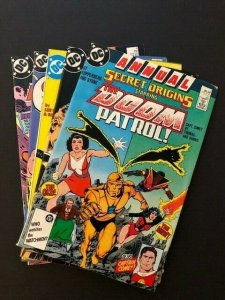 LOT of 5-DC SECRET ORIGINS Annual#1,#1-4 Shazam, Superman, Firestorm, F/VF(A121)