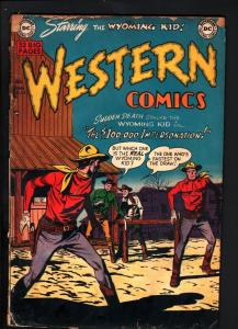 WESTERN COMICS #24-WYOMING KID-NIGHTHAWK by LEONARD STARR-1951-FAIR conditi FR