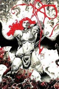 Red Sonja Black White Red #1 2021 Philip Tan Color Splash Virgin Cover