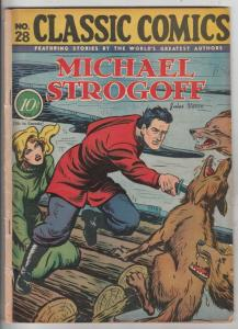 Classic Comics #28 (Sep-48) VG+ Affordable-Grade Michael Strogoff