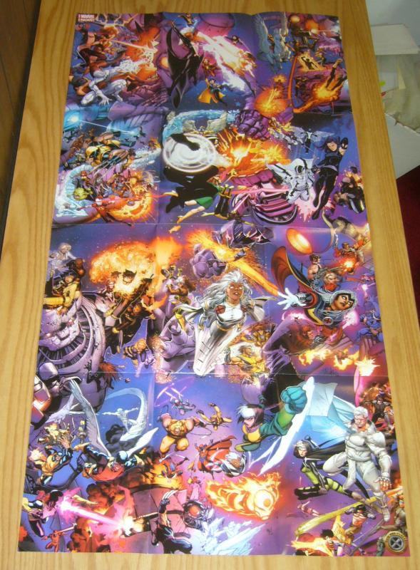 X-Men 50th Anniversary 39x19 poster - madureira  portacio  bachalo  neal adams