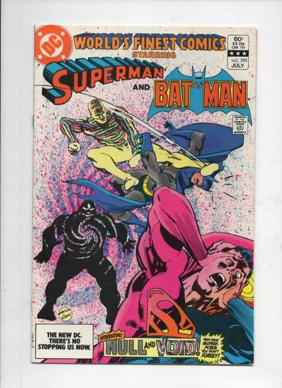 WORLD'S FINEST #293, VF+, Batman, Superman, Null Void, 1941 1983, more in store