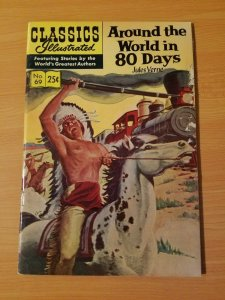 Classics Illustrated #69 - Around the World in 80 Days ~ VG - FINE FN ~ HRN 169