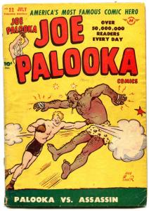 JOE PALOOKA #22 1948-HARVEY COMICS-POWELL ART-BLACK CAT FR