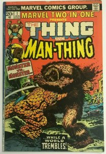 MARVEL TWO-IN-ONE#1 VG 1974 BRONZE AGE COMICS