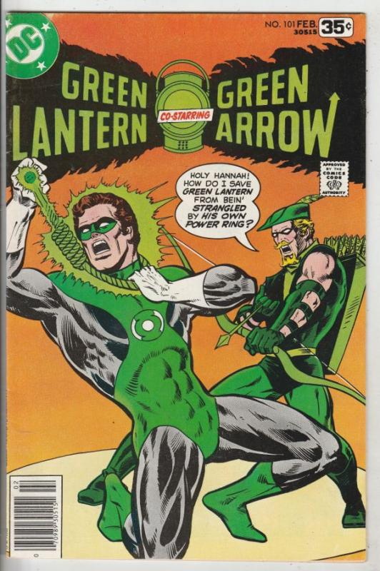 Green Lantern #101 (Feb-78) NM- High-Grade Green Lantern, Green Arrow, Black ...