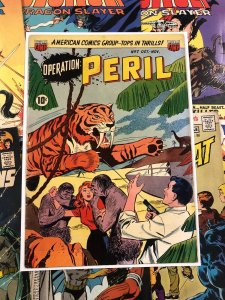 Operation: Peril #7 VG+ 4.5 golden age TEN CENTS jungle TIGER suspense 1951