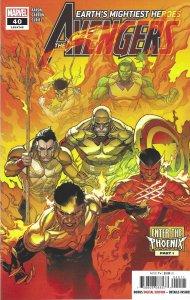 Avengers #40 (Feb 2021) - Captain America, Black Panter, Hulk vs. Phoenix Force