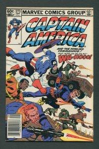 Captain America #273 / 9.4 NM  /  Newsstand /  September 1982