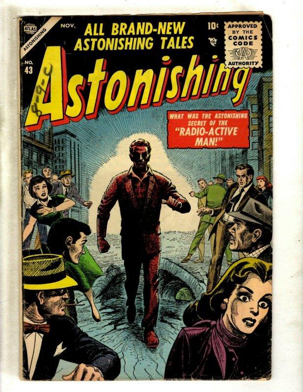 Astonishing Tales # 43 FN- Atlas Marvel Comic Book Radio-Active Man J462