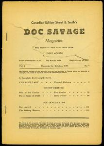 Doc Savage Pulp #4 October 1941- Pink Lady- Canadian Variant reading copy
