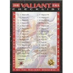 1993 Valiant Era CHECKLIST A - Card #119