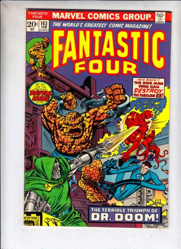 Fantastic Four #143 (Feb-74) VF High-Grade Fantastic Four, Mr. Fantastic (Ree...