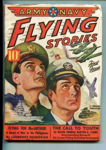 ARMY NAVY FLYING STORIES-#1-MAY 1942-AVIATION-SOUTHERN STATES PEDIGREE-vf