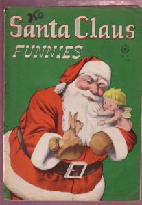 Four Color Comics #128 1946 -SANTA CLAUS FUNNIES- restored VG-