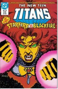New Teen Titans (1984 series) #23, VF+ (Stock photo)