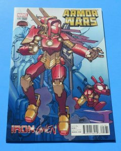 Armor Wars #1 NM/NM+ Gwen Stacy Variant Cover Iron Gwen Marvel Comic Book