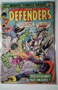 The Defenders #31 (1976) Marvel Comic Book J757