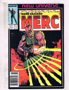 Lot of 7 Mark Hazzard: Merc Marvel Comic Books #1 2 3 4 5 6 7 AK8