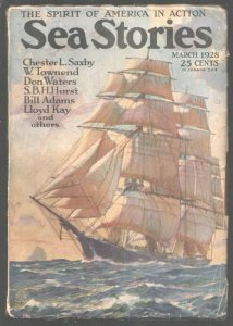 Sea Stories 3/1928-Street & Smith-Paul Strayer cover-Early pulp stories-VG/FN