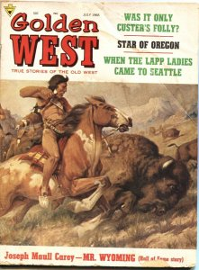 GOLDEN WEST-JULY 1968-INDIAN BUFFALO HUNT COVER-GENERAL CUSTER & MOR