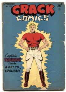 Crack Comics #50 1947- Captain Triumph- Golden Age VG-