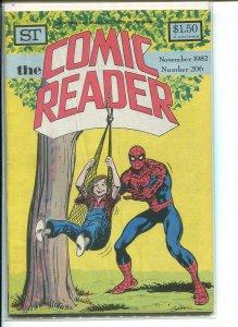 COMIC READER (1961 STREET) FANZINE #206 F+ A12011