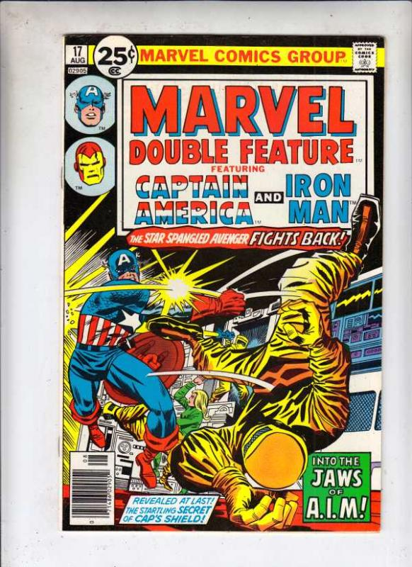 Marvel Double Feature Featuring Captain America and Iron Man #17 (Aug-76) NM-...