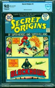 Secret Origins #6 CBCS VF/NM 9.0 Off White to White