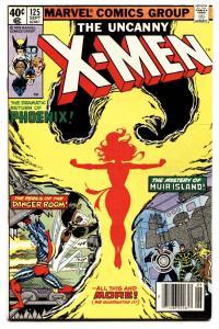 X-MEN #125 comic book PHOENIX COVER-MUTANT X MARVEL