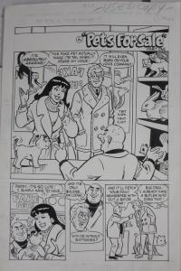 STAN GOLDBERG ORIGINAL ART! Archie & Friends #28,Pets for Sale 11 page story!