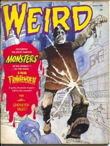 Weird #10 1966-Eerie-1st issue-Frankenstein-Carl Burgos-vampire-torture-VG