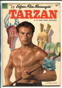 TARZAN #53 -1954-DELL-BURROUGHS-MARSH-LEX BARKER PHOTO COVER-fn