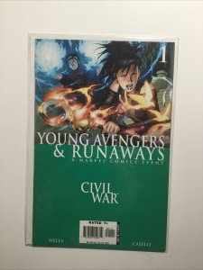 Young Avengers And Runaways Civil War 1 Near Mint Nm Marvel